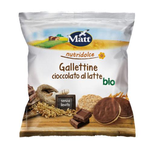 Matt Gallettine Cioccolato al latte Bio