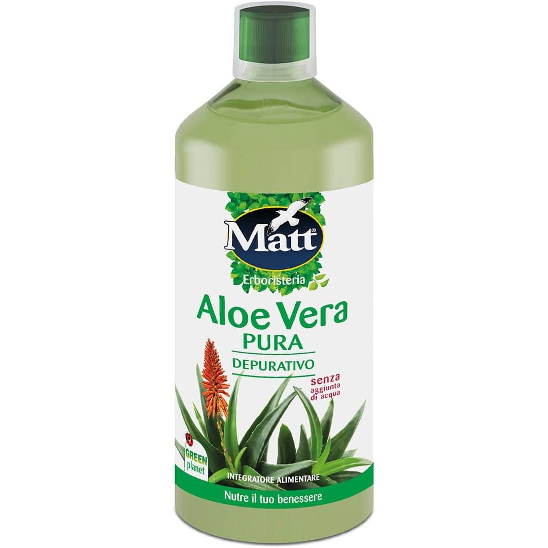 Aloe Vera Pura 1 Litro Naturale E Depurativa Matt